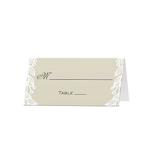Golden Vines - Blank Folded Place Cards