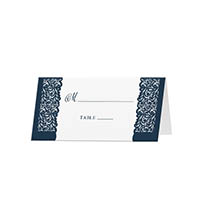 Lace - Blank Folded Place Cards