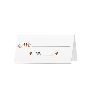 Rustic - Blank Folded Place Cards