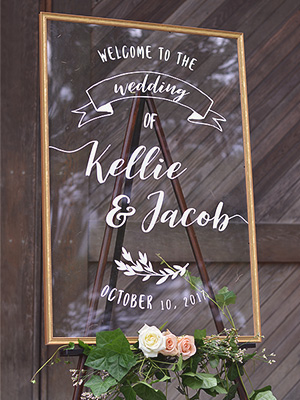 Wedding Signs Custom Acrylic And Chalkboard Cards