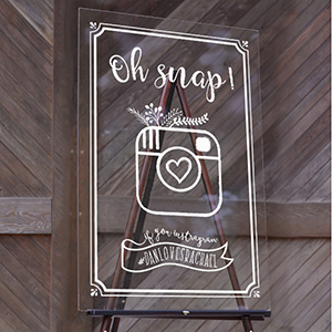 Custom Acrylic Wedding Signs - Cards and Pockets