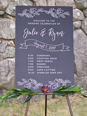 Custom Chalkboard Wedding Signs