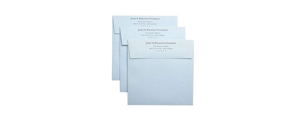 cards and pockets return address printed envelopes