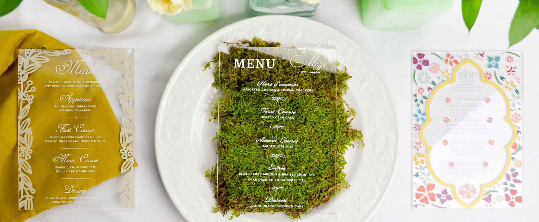Acrylic Wedding Menus