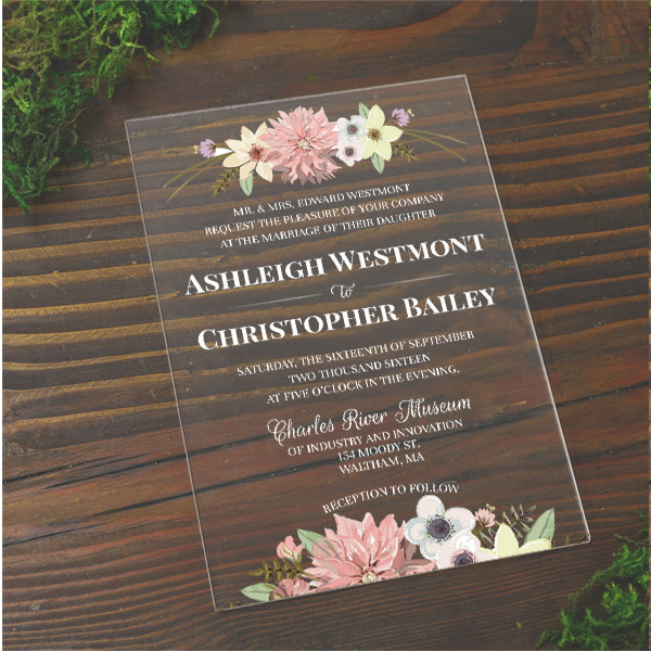 Plexi Glass Wedding Invitations