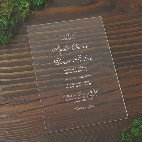 custom acrylic invitations