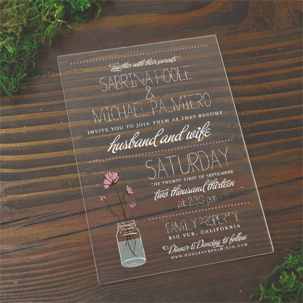 acrylic invitations price