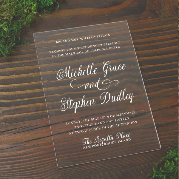 Acrylic Wedding Invitations