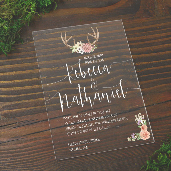 acrylic wedding invitations wholesale