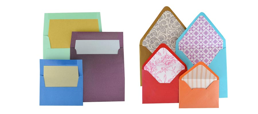 envelopes a rainbow of colors and sizes cards pockets