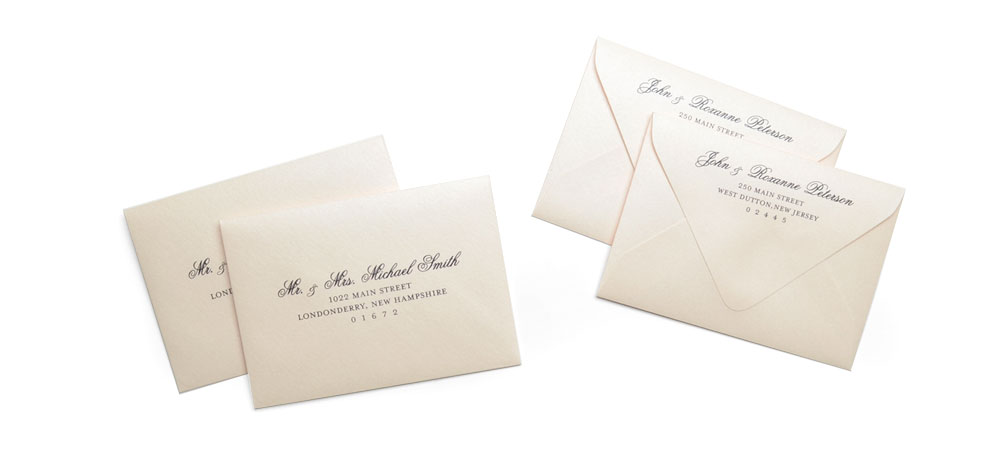 Cards And Pockets Full Guest Address Printed Envelopes