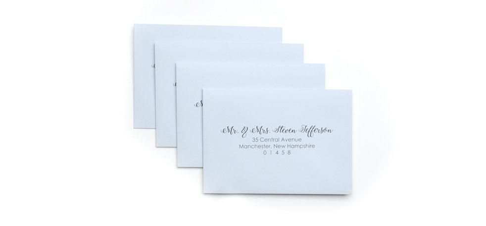 cards and pockets rsvp address printed envelopes