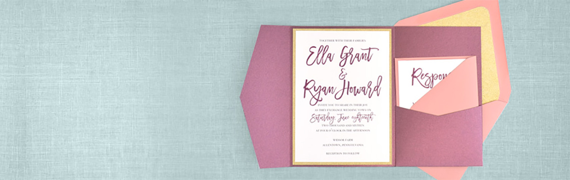 TEN A5 Ivory Paper Wedding Invitation Card Inserts