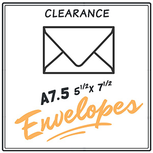 Clearance A7.5 Envelopes