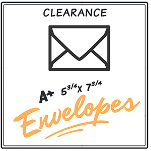 Clearance A+ Envelopes