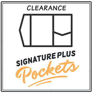 Clearance Signature Plus Pocket Invitations