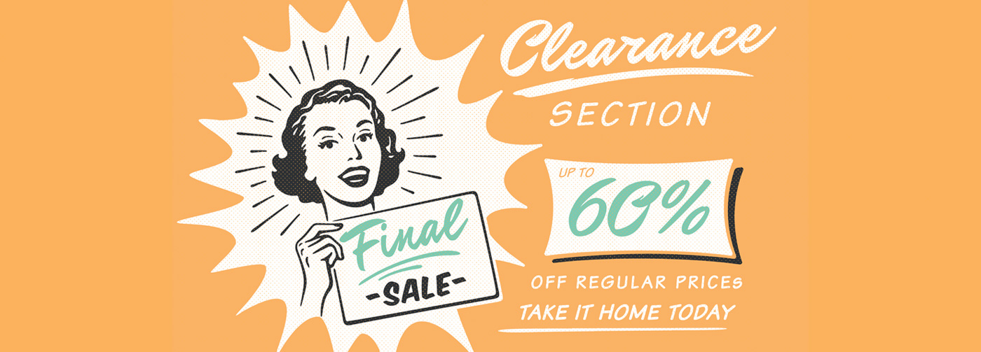 Clearance - Save 60%!