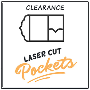 Clearance Laser Pocket Invitations