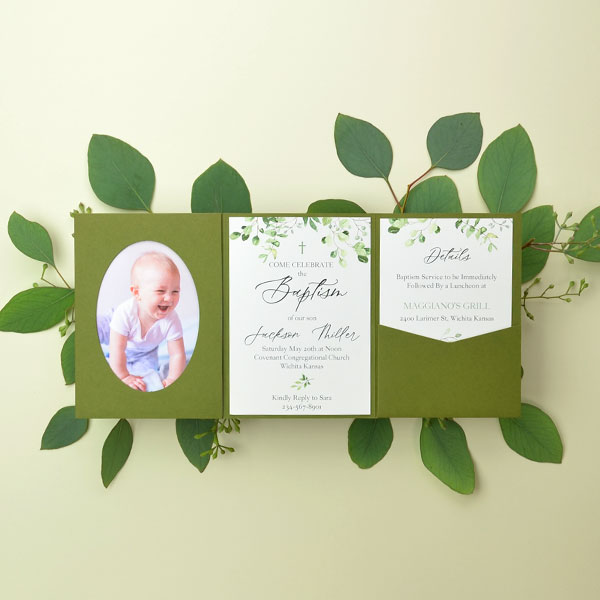 Baptism Greenery A2 Suite