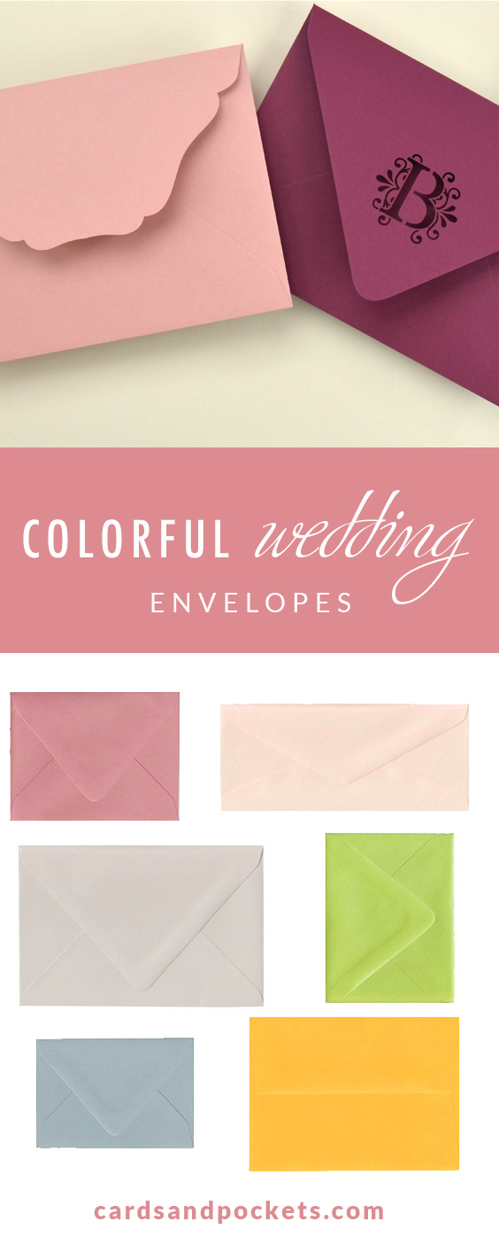 Colorful Wedding Envelopes | 100+ Colors Euro Flap Square Flap - All the Popular Wedding Envelope Styles