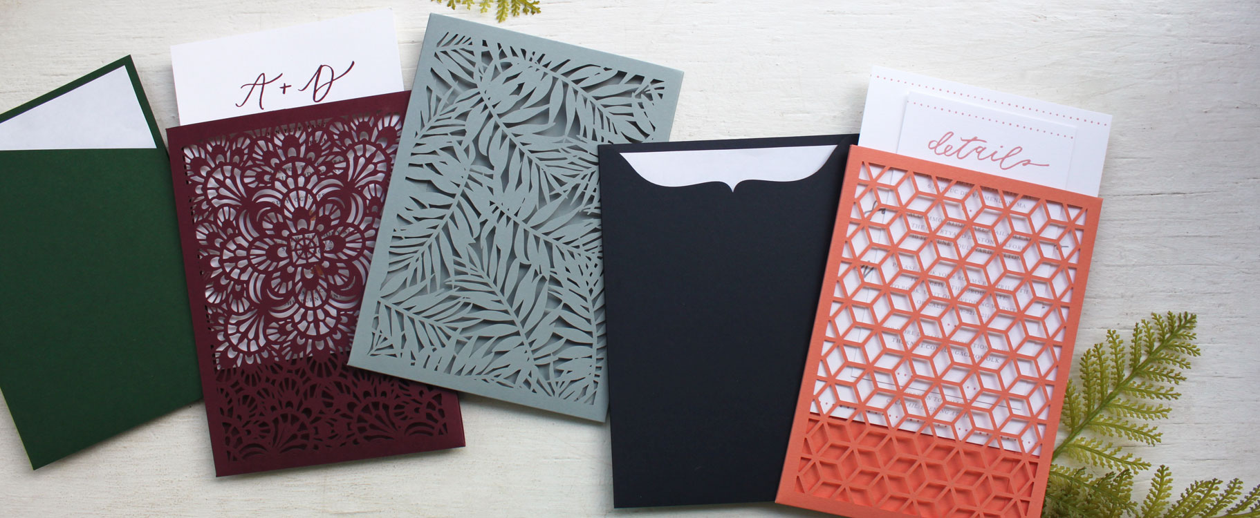 Laser Cut Invitation Sleeves