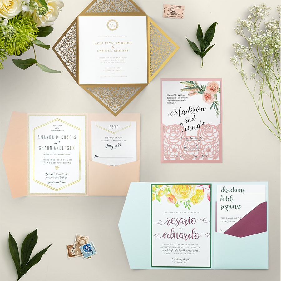 Cards and Pockets - Wedding Invitation Suites