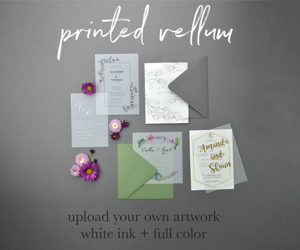 Cards And Pockets Custom Printing On Vellum Paper