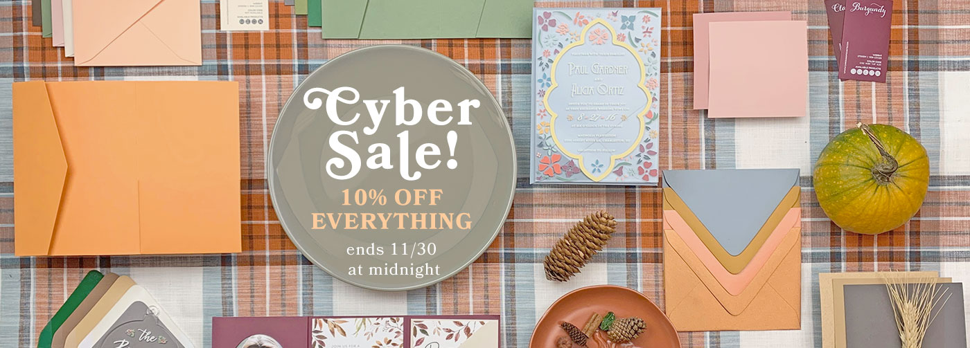 CYBER SALE - 10% OFF EVERYTHING