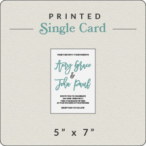 Print Your Own Holiday Card 5x7 Flat