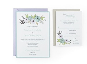 Watercolor Wave Response 4 1 8 X 5 2 Free Wedding Invitation Template